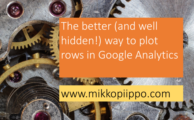 The better (and well hidden) way to plot rows in Google Analytics